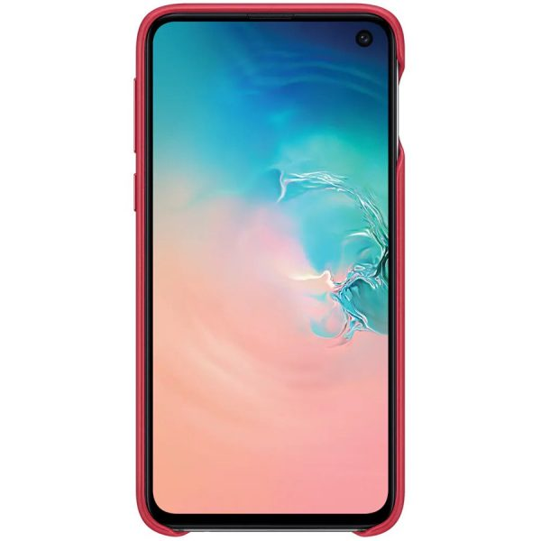 Samsung Galaxy S10e Leather Cover RED